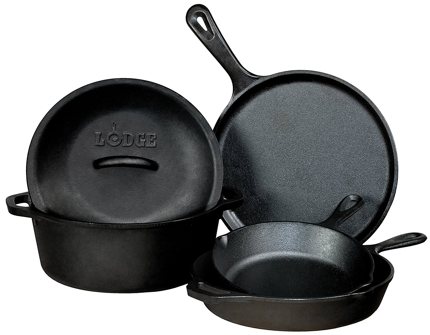Lodge 5 piece cookware set
